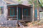 small porch of cabin
