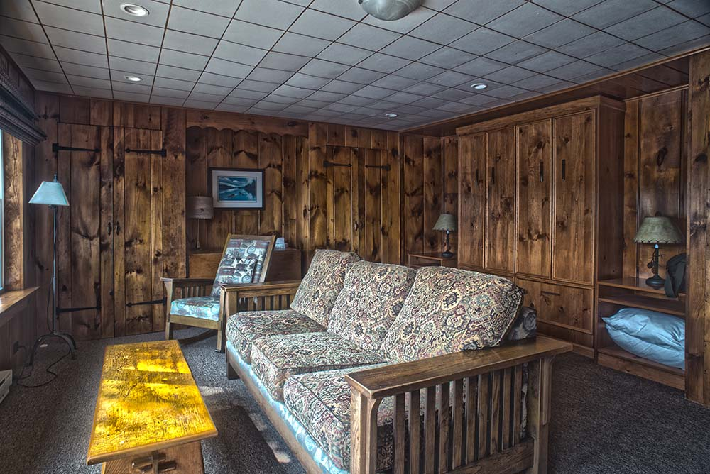 futon in living room