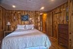 Pine wood panels bedroom