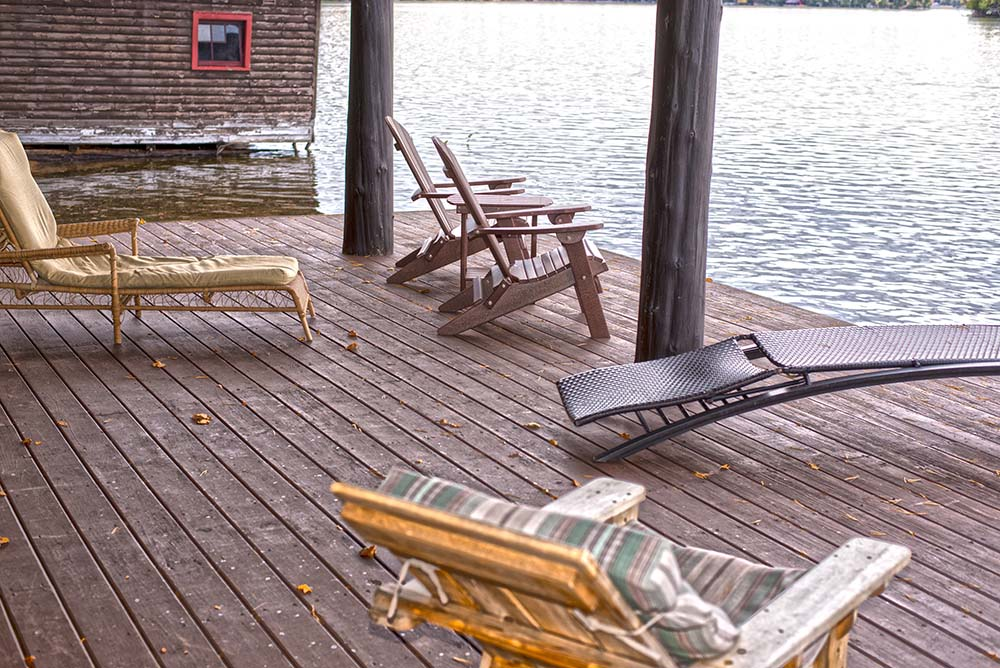 lakeside Deck with chairs
