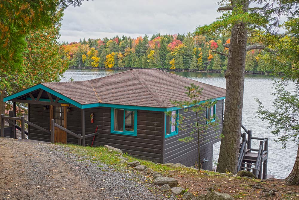 Cabin on the water's edge