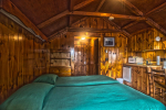 Wood Adirondack style cabin